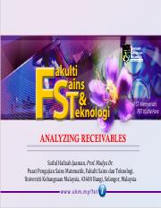 analyzing receivables