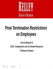 Post-Termination Restrictions