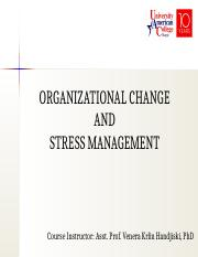 Chapter 19 - Organizational Change and Stress Management