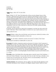 Law Assign. 7 - Case Brief.docx
