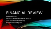 FINC615 - Financial Review Phase 1 IP