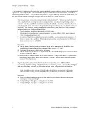 Study Guide Problems for Exam 2 - Business 182 without answers.rtf