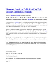 Harvard Law Professor regarding CD-Rs