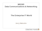 MIS365 17 - The Enterprise World
