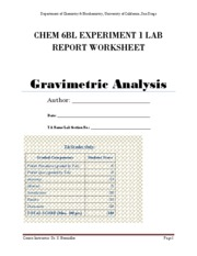report worksheet experiment 1