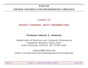 ECE216-Lecture-23-Short-Channel-MOSFETs