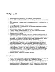 IOC The Tiger Notes