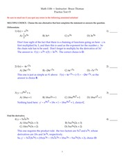 1106 Practice Test 3 Spring 2013 - annotated answers