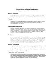 operating agreements samples