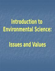 Lecture 1 ENV_107_Values &     Issues_update