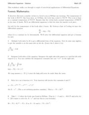 ws9 dierential equations solution math 125 this worksheet walks you through a couple of non. Black Bedroom Furniture Sets. Home Design Ideas
