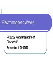 11_Electromagnetic waves