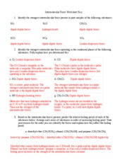Intermolecular Force Worksheet Key