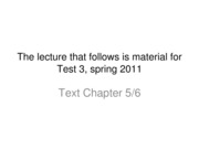 SMGT 4336 Federal Legislation Lecture Notes Sp 2011