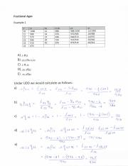 Life Tables - Sample question - completing a life table - Life