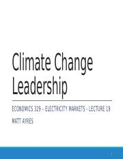 ECON 329 f2015 Lecture 18 Climate Change