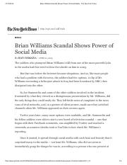 Brian Williams Scandal Shows Power of Social Media - The New York Times.pdf