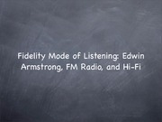 15-Fidelity mode of listening - armstrong, FM Radio and Hi-Fi