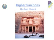 Higher Functions (Langauge and Memory)