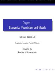 Economics Foundation Ch1