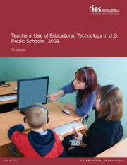 Teachers' Use of Educational Technology in U.S. Public Schools 2009