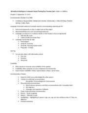 Chapter 5 Class Notes