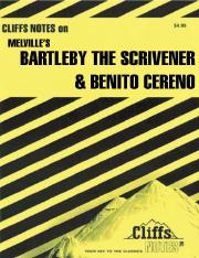Mary Ellen Snodgrass - Melville's Bartleby the Scrivener and Benito Cereno (Cliffs Notes) (1992).pdf