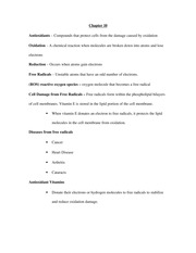 Nutrition Study Guide Exam II