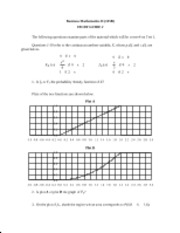 MATH 115B Study Guide 2 Plus Solutions