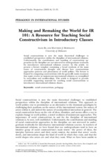 POL208-Oct.1-Alice, Hoffman, Making and Remaking the World for IR 101- A Resource for Teaching Socia
