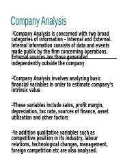 Company Analysis.ppt