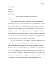 Eaton Canyon Research Paper 10B