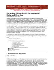 Bynum, Computer Ethics- BasicConcepts  Historical Overview.pdf
