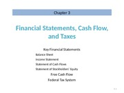 Ch 3 Lecture Slides, Financial Statements