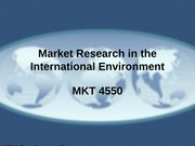 MKT 4550 - 06 - Market Research