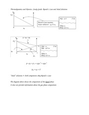 Thermodynamics and Kinetics- Study Guide- Raoult's Law and Ideal Solutions