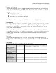 Reflective Argument Essay Assignment