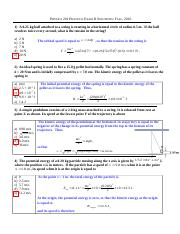 PHYSICS 201 Practice Exam II Solutions Fall%2c 2016