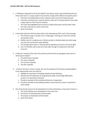 KINE1000 Additional mid-term exam practice questions fall 2013