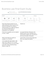 BUA Business Law Final Exam Study flashcards | Quizlet