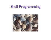Lecture: Shell Programming