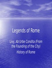 Lect 17 Legends of Rome.pptx