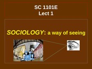 SC1101E Lect1X Sociology-a way of seeing Sem1 2014-15