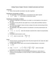 College Physics Chapter 4 Section 3: Radial Acceleration and Period.docx