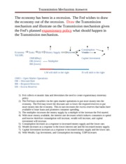 Transmission Mechanism Answers (1)