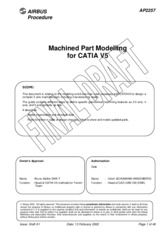 Machined Part Modelling for Catia