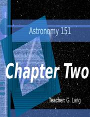 ASTR 151 Chapter Two