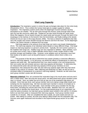 Vital Lung Capacity Lab Report