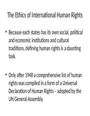 Chapter 5 -  The Ethics of International Human Rights