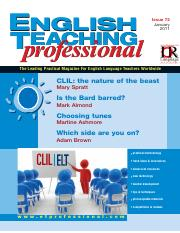 English Teaching Professional Magazine 72